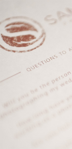 Wedding Photographer Client FAQ