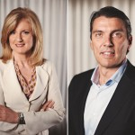 arianna huffington and tim armstrong portraits