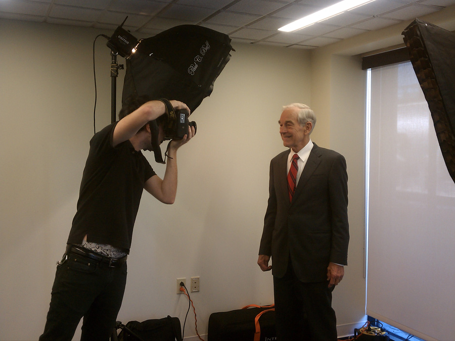 Celebrity Strobist Portrait of Ron Paul, Presidential Candidate 3
