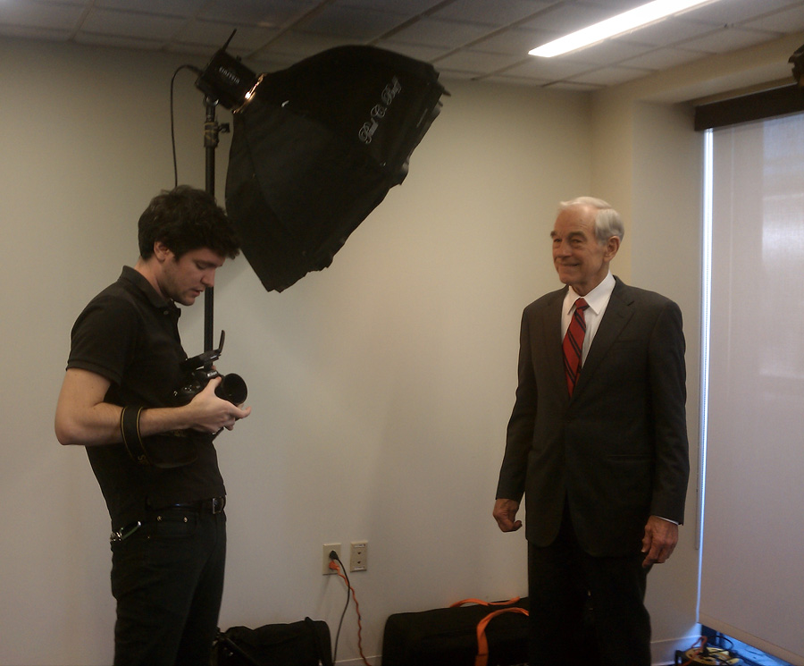 Celebrity Strobist Portrait of Ron Paul, Presidential Candidate 2