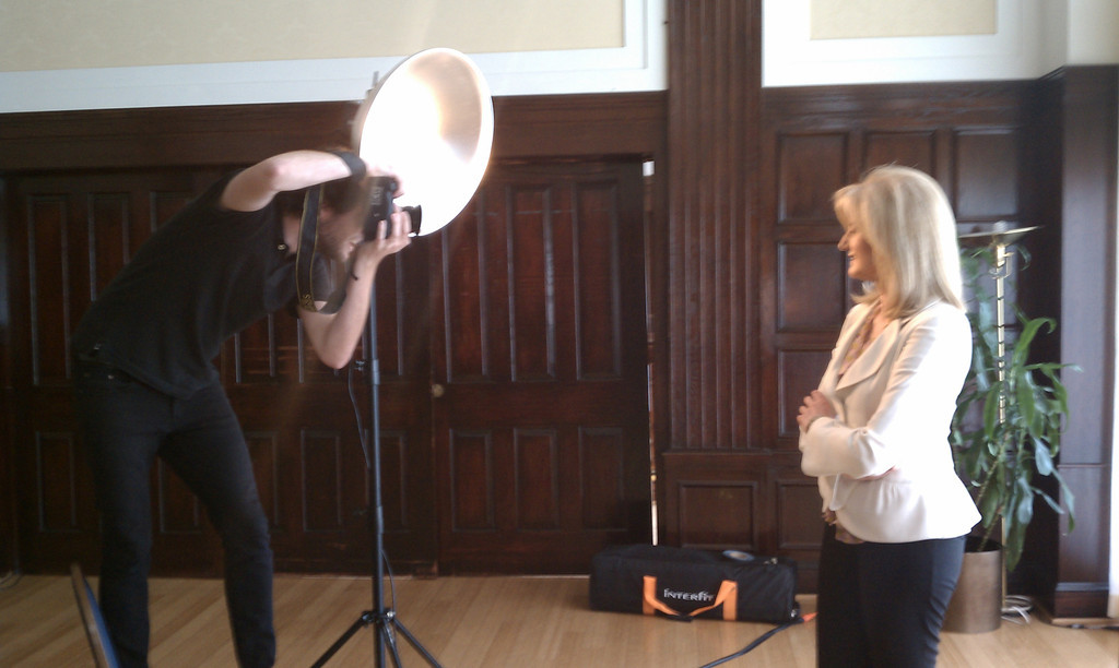 Creative Strobist Portrait of Arianna Huffington by Washington DC Photographer 4