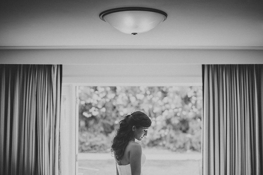 portrait of a bride in california