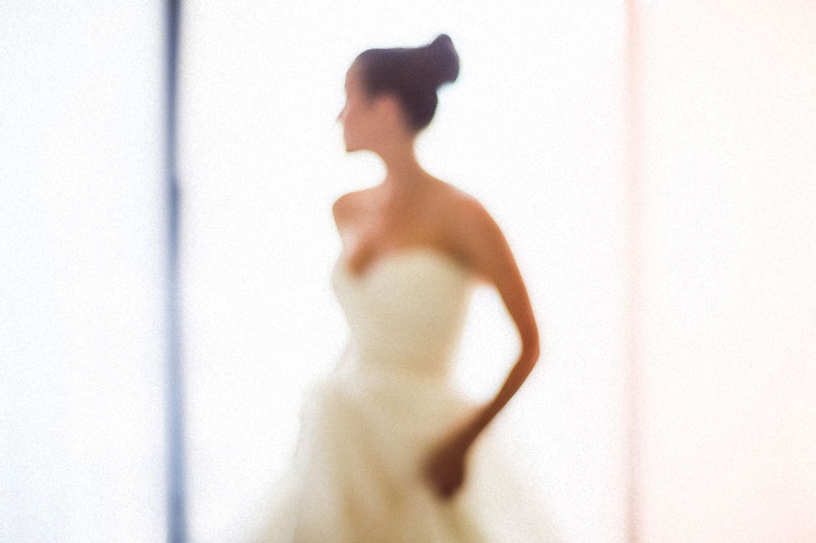 creative portrait of a bride before her wedding ceremony