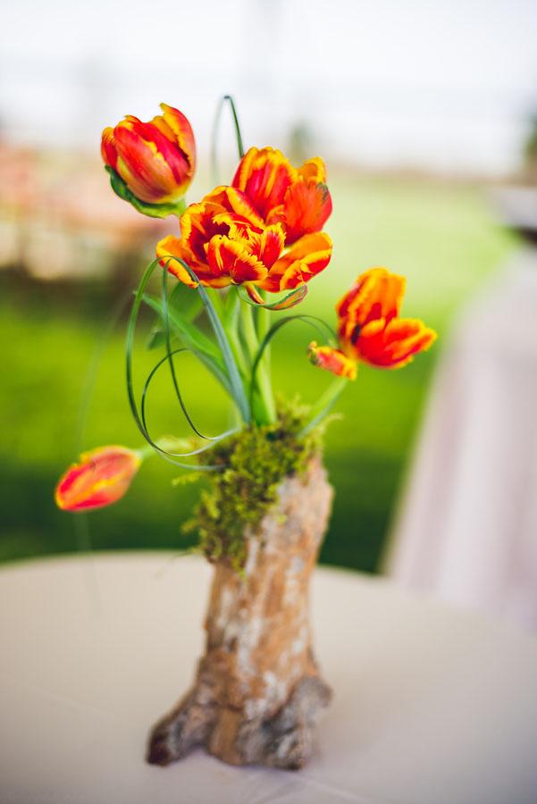 Detail photograph at a wedding
