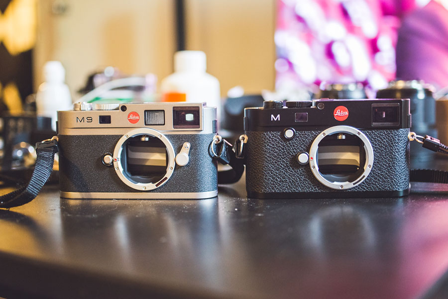 Leica M Typ 240 next to Leica M9