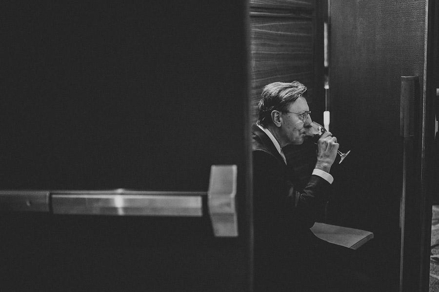 man drinking champaign
