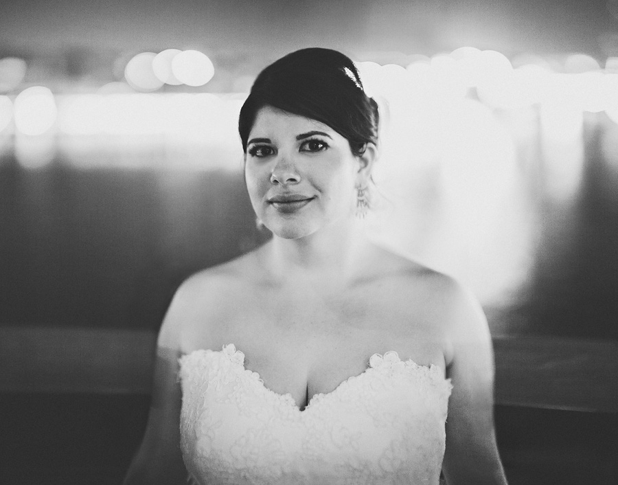 black and white portrait of maryland bride