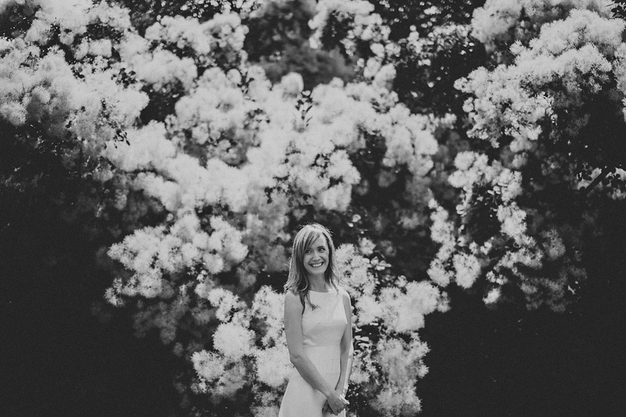 creative black and white bride portrait