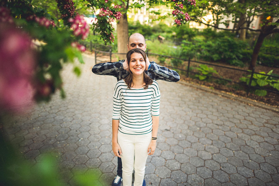 funny engagement session portrait