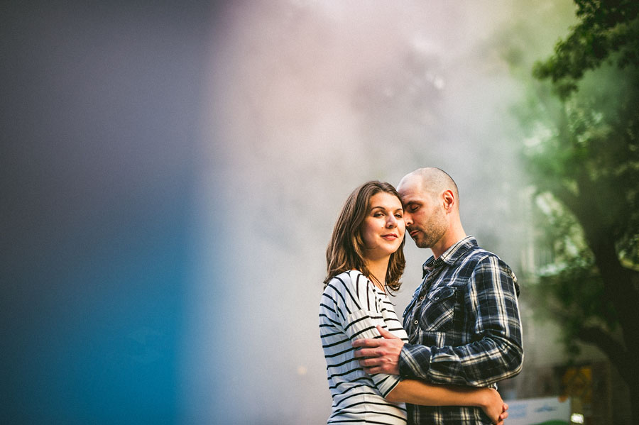 streets of new york city engagement session