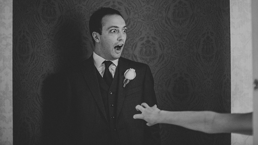 funny groom reaction