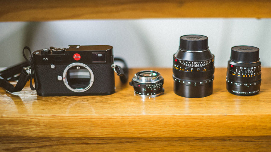 leica m 240 with 24 35 50 lenses for travel
