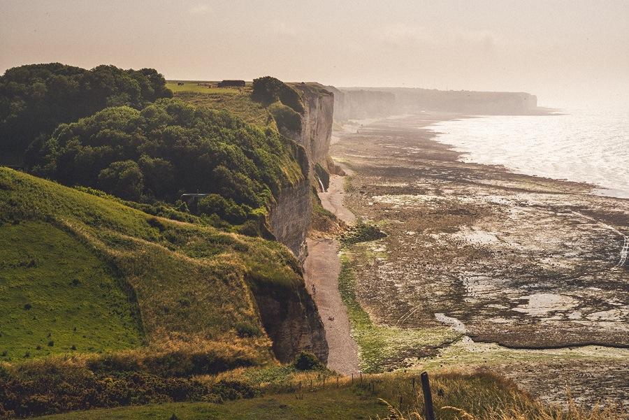 white cliffs of france coast