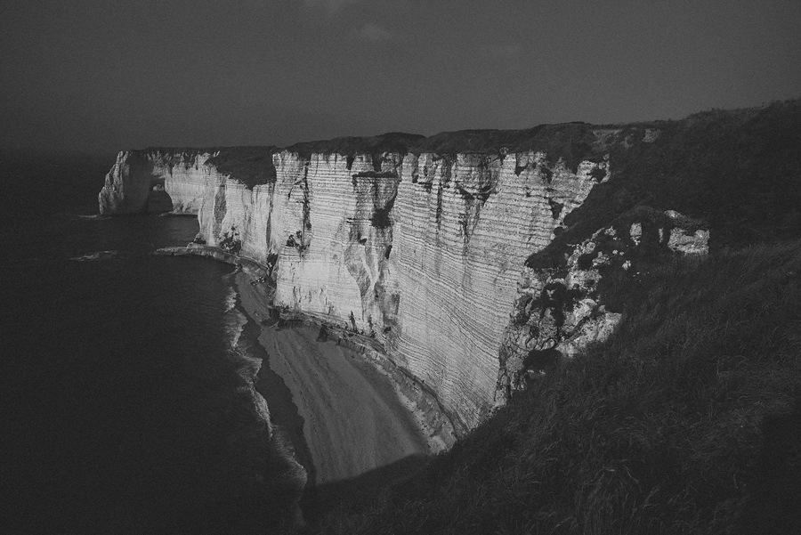 sunset at white cliffs in france normandy
