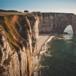 amazing landscape of white cliffs in france