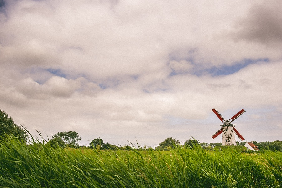 windmill landscape photo