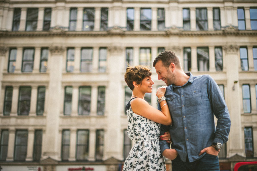 downtown london portrait of people in love