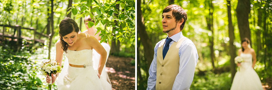 first look photos in woods