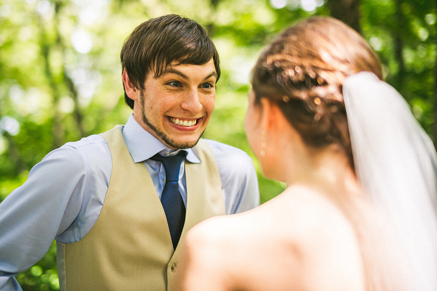 grooms reaction to first look
