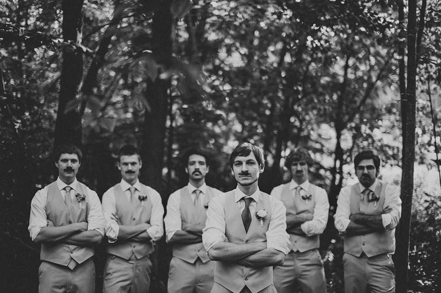 black and white groomsmen portrait