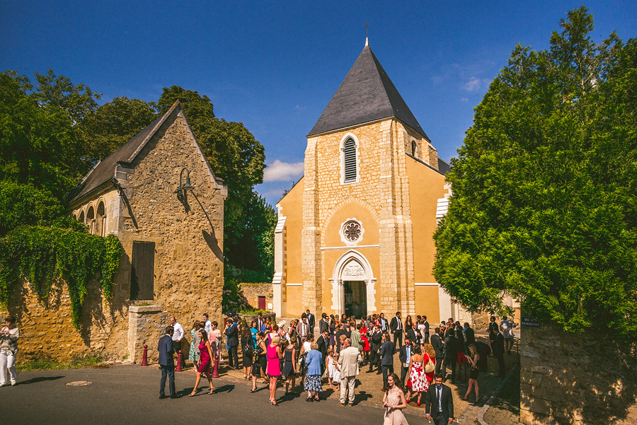 outside of church venue in france