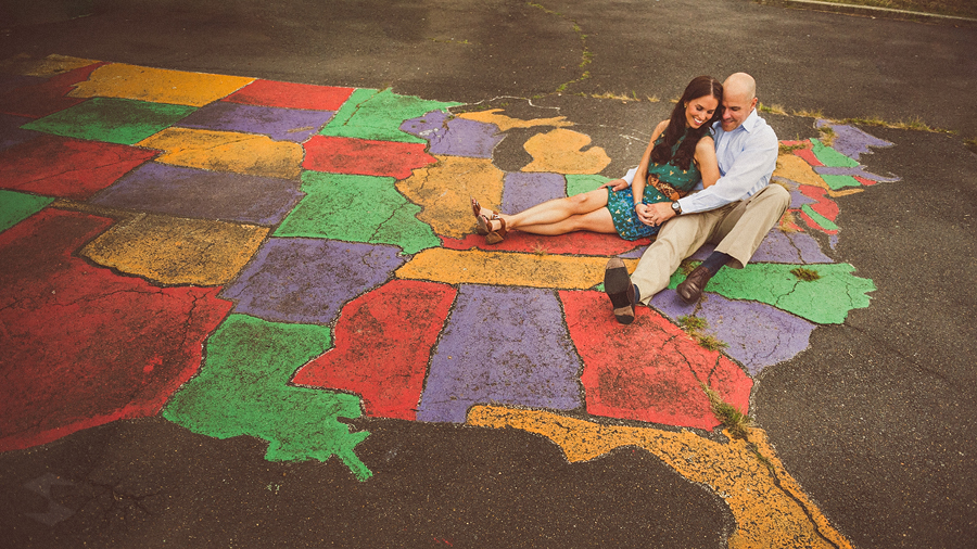map of the country engagement photos in washington dc