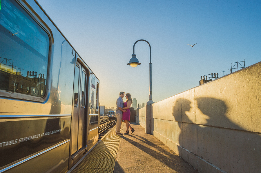 nyc subway engagement session