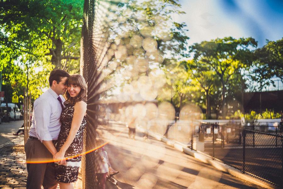 outdoor city park portrait of a couple