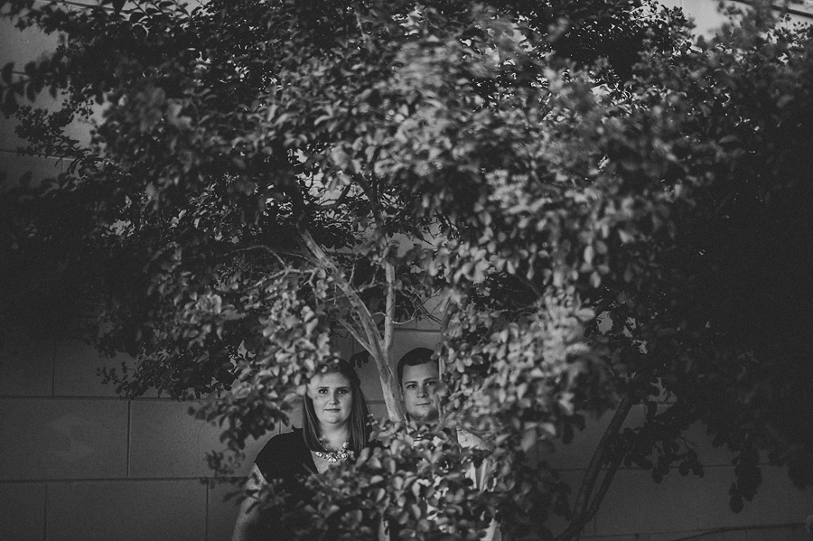 creative epic engagement photo portrait in black and white