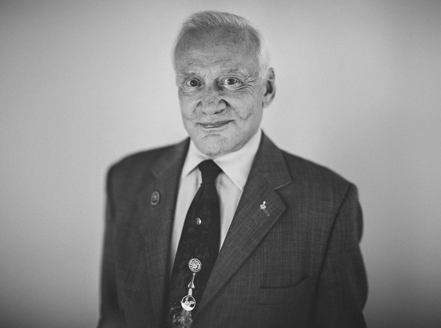 buzz aldrin epic portrait celebrity strobist