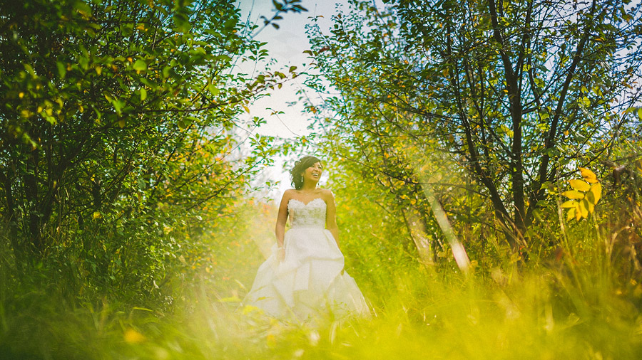 bridal portrait creative in vineyard