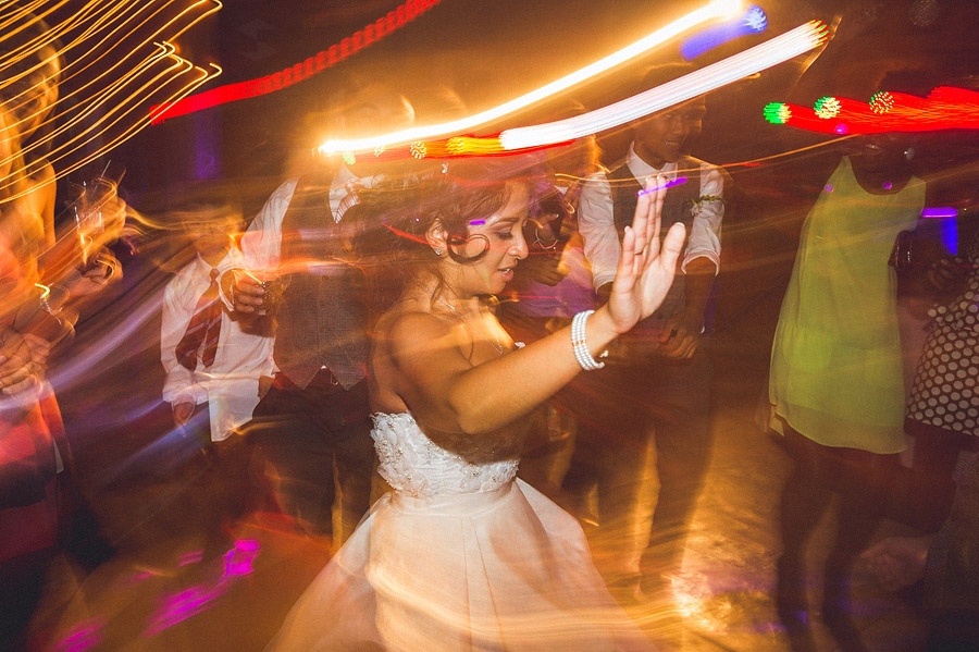 bride dancing during reception