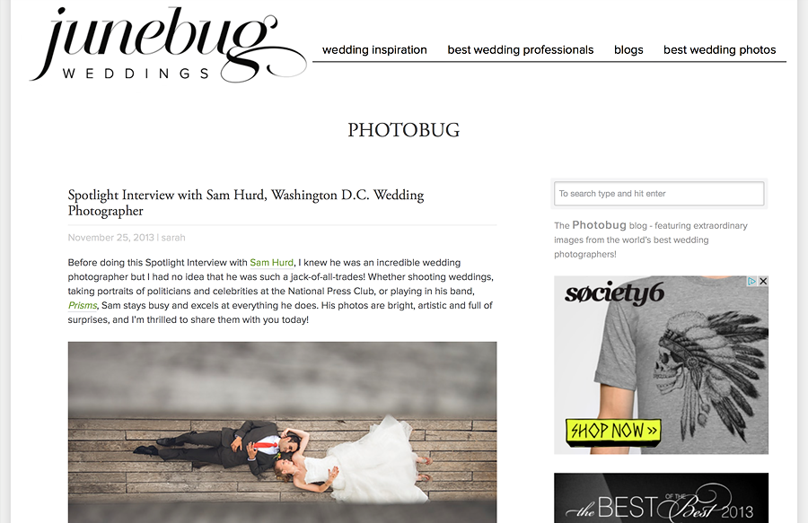 junebug weddings interview