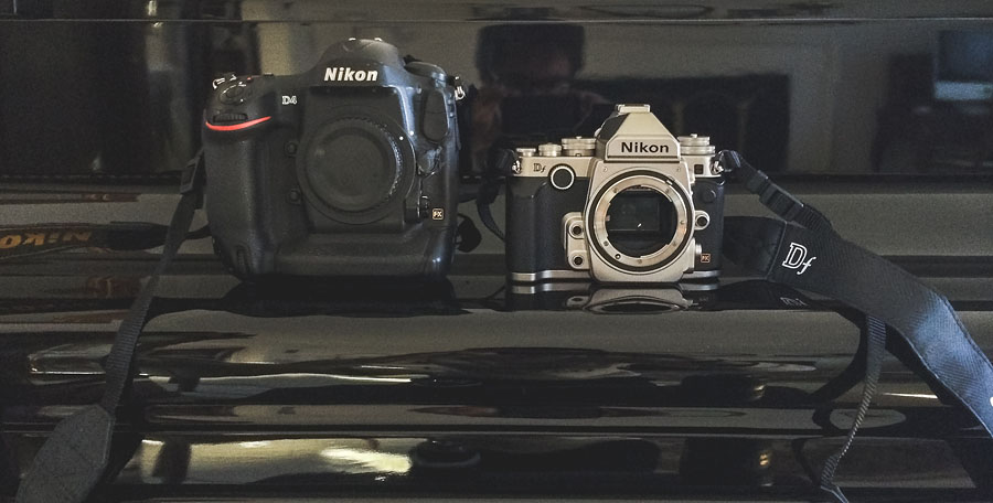 nikon d4 and df size comparison