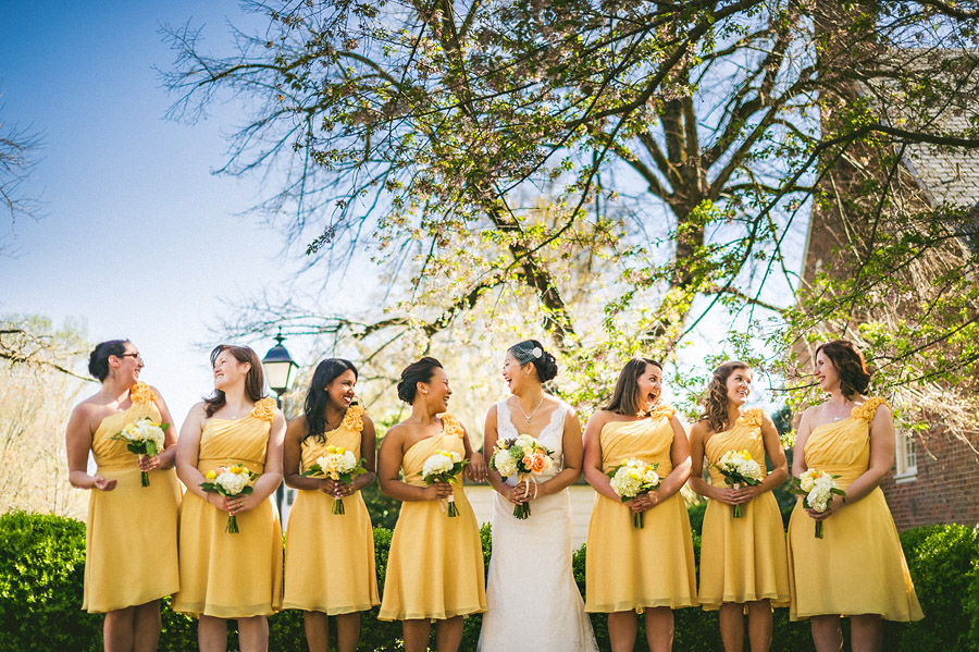bridesmaids group photo