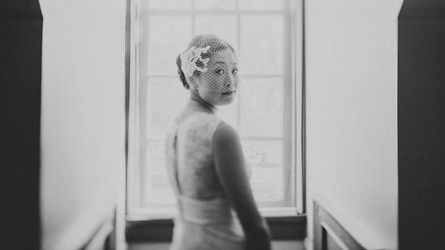 creative portrait of a bride