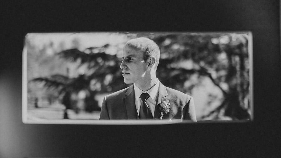 creative groom portrait
