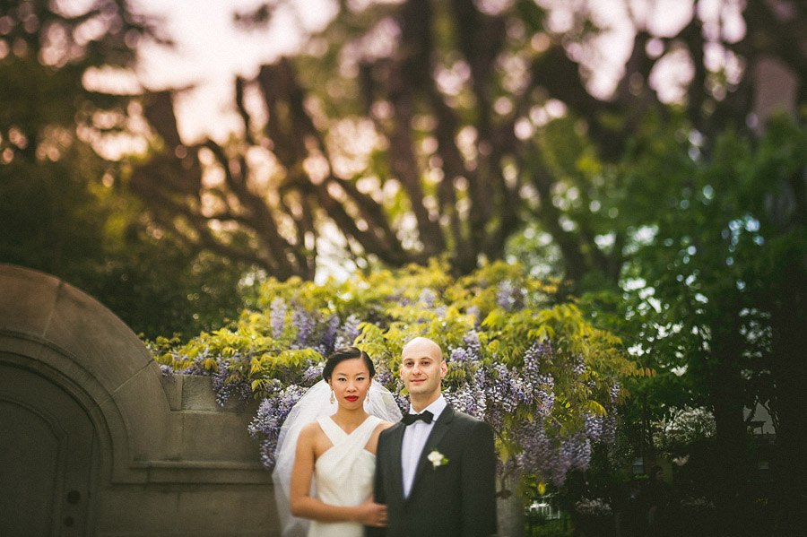 bride and groom stoic portrait outdoors