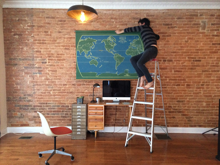 setting up map wall