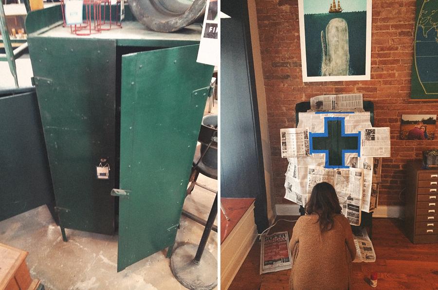 setting up vintage furniture
