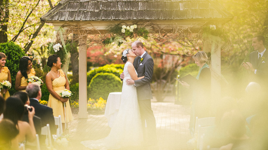 ceremony first kiss
