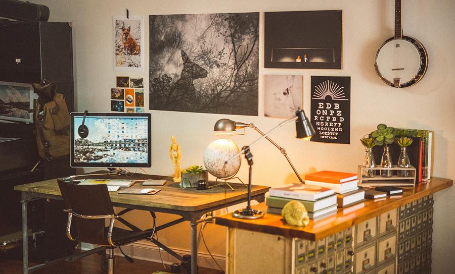 sam hurd work area in baltimore studio