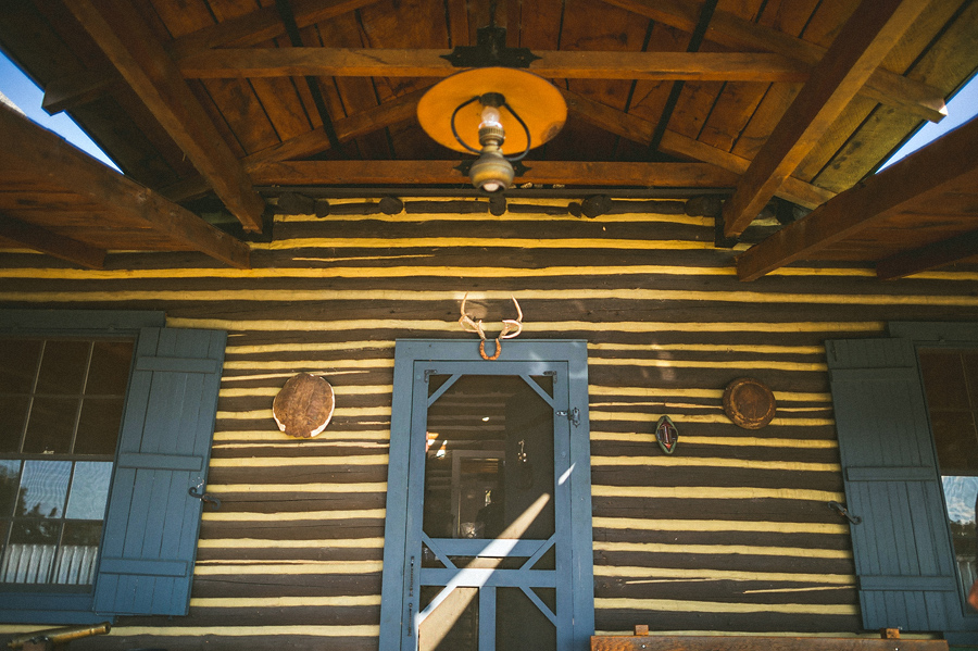 front door to cabin