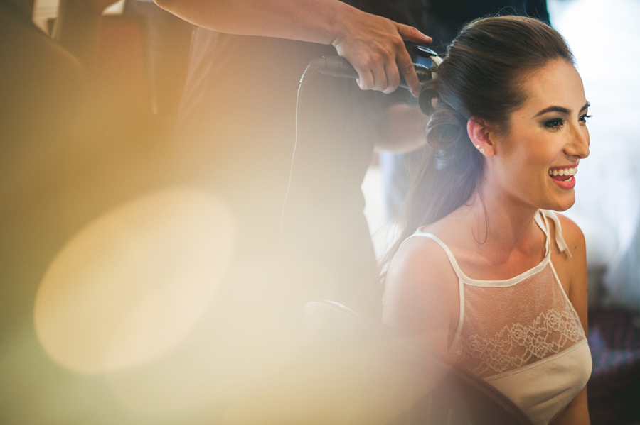 lens chimping bride wedding ready