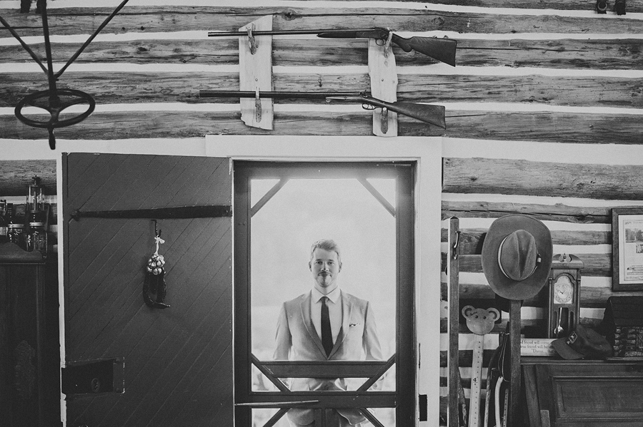 creative portrait of groom