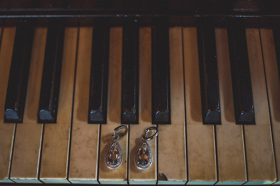earrings on piano