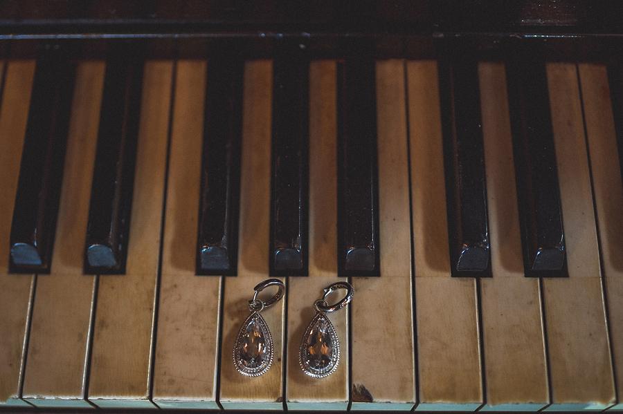 earrings on piano