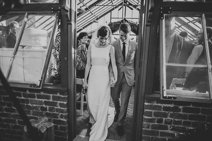 luke and julia leaving their wedding ceremony