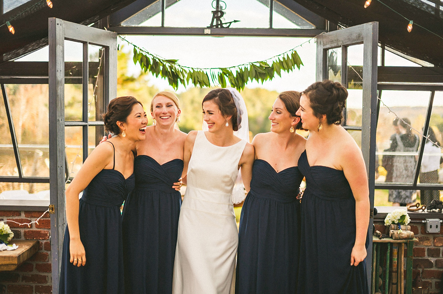 julia with her bridesmaids