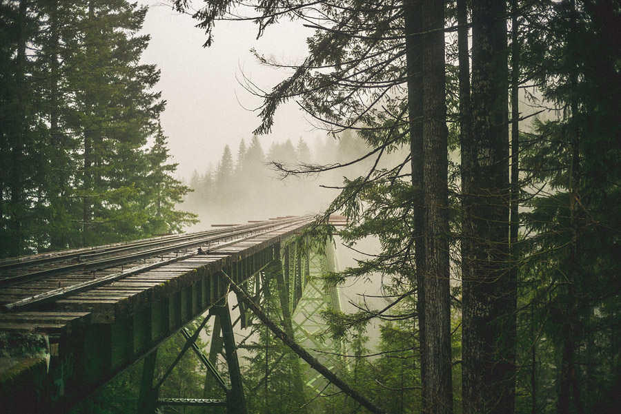 abandonded train bridge vance creek